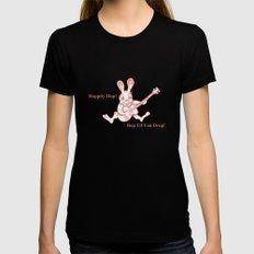 Rockin' Rabbit Womens Fitted Tee Black MEDIUM