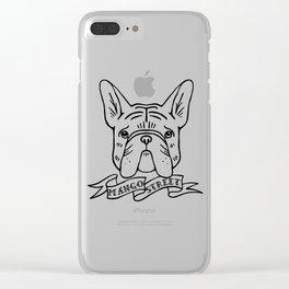 Carlton's Big Squishy Face - Black Logo Clear iPhone Case