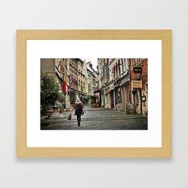 Streets of Brussels, Belguim Framed Art Print