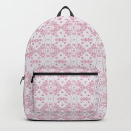 Abstract pastel pink lavender modern cross stitch pattern Backpack