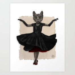 Twirling, Twirling, Couture Kitty Art Print