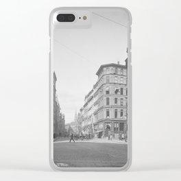 Summer Street, Boston, Massachusetts 1904 Clear iPhone Case