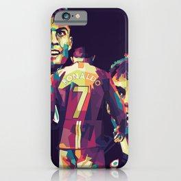 Ronaldo on WPAP Pop Art Portrait iPhone Case