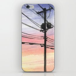 Telephone Wires iPhone Skin