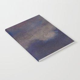 WaterColor Navy Blue Print Notebook