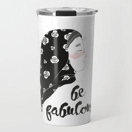 confident fatima / illustration Travel Mug