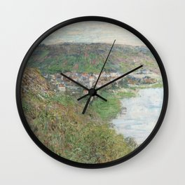 View of Vétheuil (1880) by Claude Monet Wall Clock