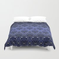 haunted mansion Duvet Covers featuring Haunted Mansion Ghost Pattern iPhone 4 4s 5 5s 5c, ipod, ipad, pillow case and tshirt by Three Second