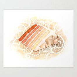 Ombre Cake Slice Art Print