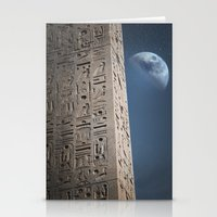 egyptian Stationery Cards featuring Egyptian Moon by Vin Zzep