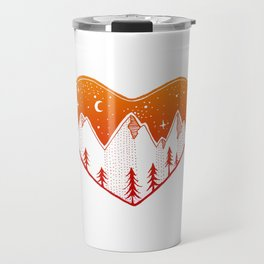 Heart In The Mountains - Warm Palette Travel Mug