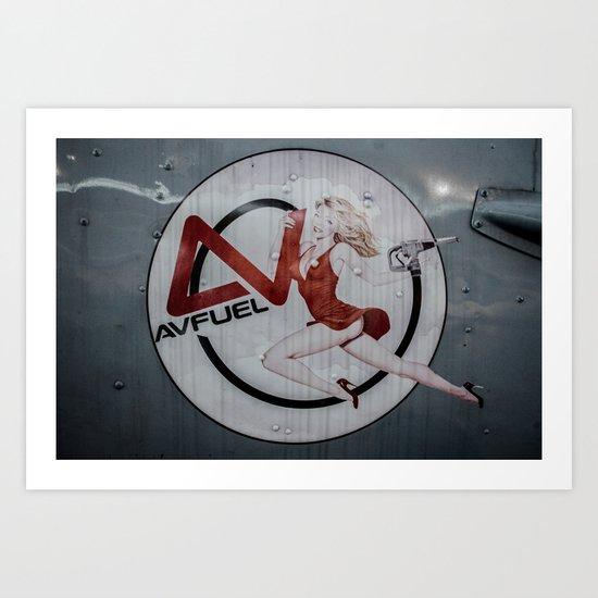 AV Fuel Pinup Girl Art Print