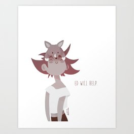 Ed and Ein - Cowboy Bebop Art Print