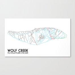 Wolf Creek, CO - Minimalist Trail Art Canvas Print