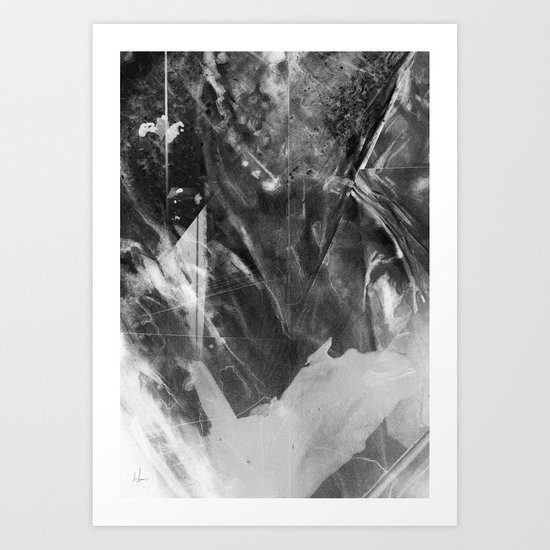 Black Crystal Art Print