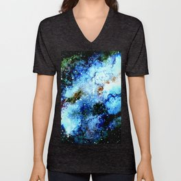 Cool Blue Galaxy Unisex V-Neck