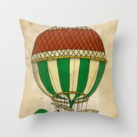 balloon Throw Pillows featuring Balloon by Janko Illustration