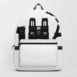 paris skyline Backpack