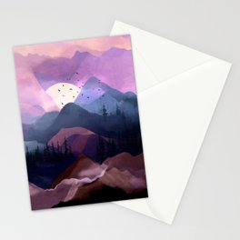Misty Mountain Morning Stationery Cards