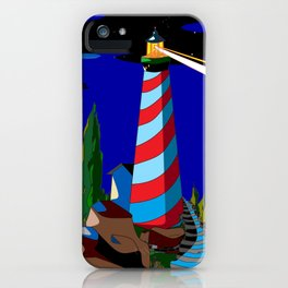 A Night at the Lighthouse with Search Light Active iPhone Case