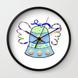 Winged Bell and  Egg Wall Clock