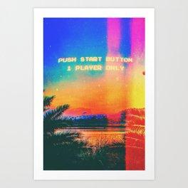 Single Player Art Print