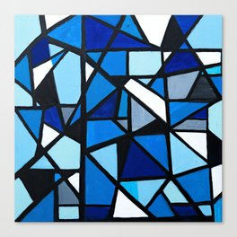 Blue Geometric Canvas Print