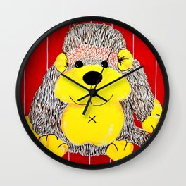 Cuddly Monkey , a primate playmate Wall Clock