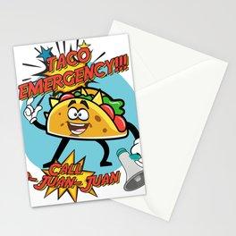 Taco Emergency Call 9 Juan Juan Stationery Cards