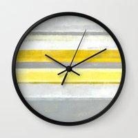 lemon Wall Clocks featuring Lemon by T30 Gallery