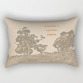 """Catalina Trees #2"" with poem: Simple Friendship Rectangular Pillow"