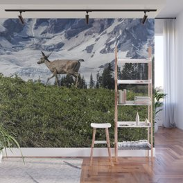 Deer Heading Up the Mountain, No. 1 Wall Mural
