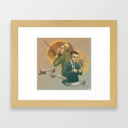 Hell Hath No Fury Framed Art Print