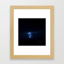 Lightning Strikes - III Framed Art Print