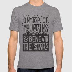 on top of mountain and beneath the stars Mens Fitted Tee LARGE Tri-Grey