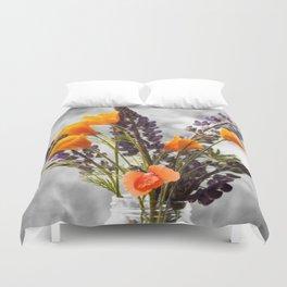 Wildflower Bouquet Photography Print Duvet Cover
