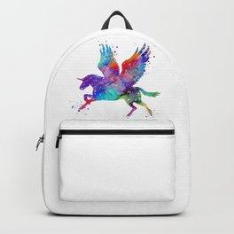 Pegasus Fantasy Art Colorful Watercolor Art Gift Art Mythical Art Horse Lovers Gift Backpack