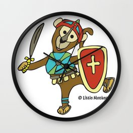 © Litte Monkey wears Full Armor of God Wall Clock