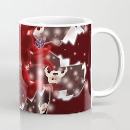 'You Cracked the Egg' Series - Easter Evil Bunny with Premium Background Coffee Mug