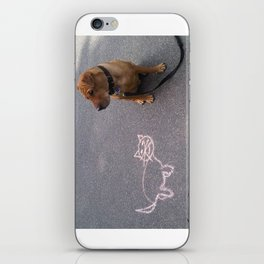 """Cat Skeptical"" from the photo series""My dog, PLaY-DoH"" iPhone Skin"
