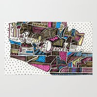 drunk Area & Throw Rugs featuring drunk by Mariana Beldi