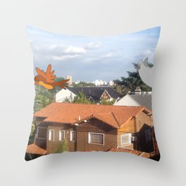 Flying with friends. Throw Pillow