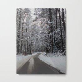 Smoky Mountain Winter Metal Print