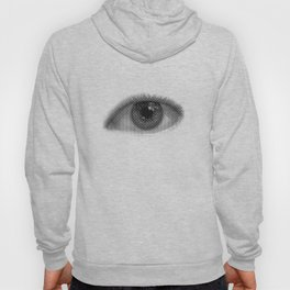Pop-Art Black And White Eyes Pattern Hoody