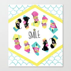 Hipster Smile Canvas Print