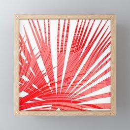 Tropical Flashy Fan Palm Leaves Abstract Design Framed Mini Art Print