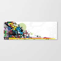 brain Canvas Prints featuring Brain by KnoP