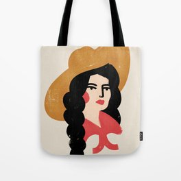 Abstract Cowgirl Tote Bag