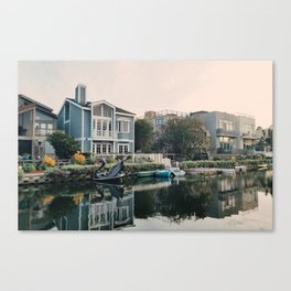 Venice Canals at Sunset Canvas Print
