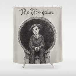 The Navigator Buster Keaton Shower Curtain